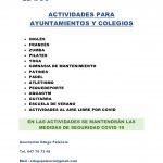 ACTIVIDADES AYUNTAMIENTOS Y COLEGIOS